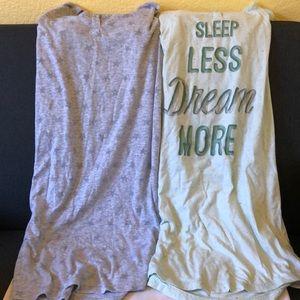 Bundle of 2 XS Sonoma sleep shirts